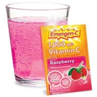 Alacer Emergen-C Vitamin C Drink Mix Packets - Raspberry 30 pkts