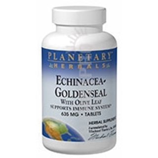 Planetary Herbals Echinacea-Goldenseal - with Olive Leaf 60 Tabs
